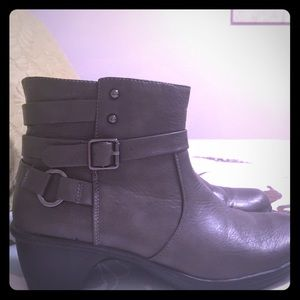 Shoes - Pewter colored ankle boots